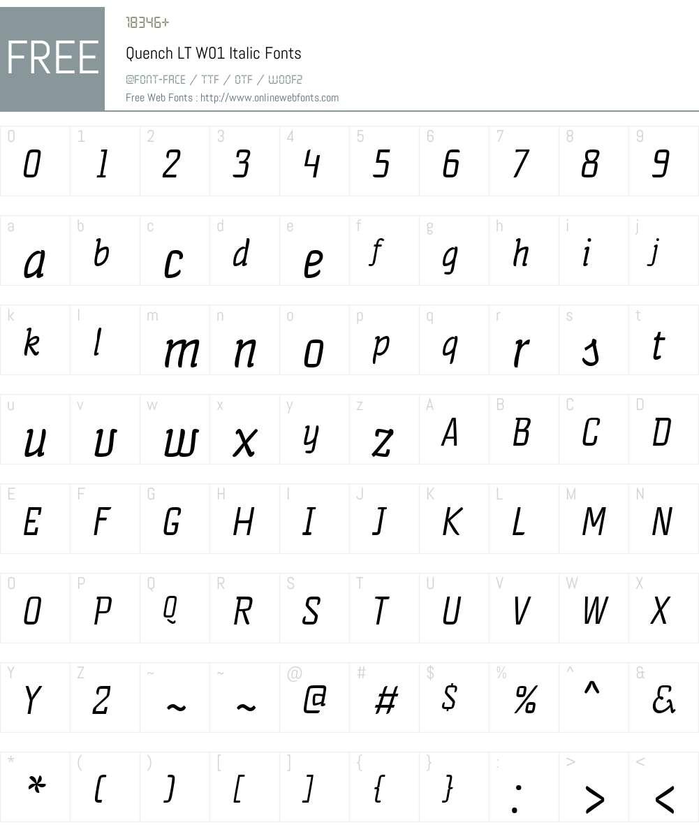 QuenchLTW01-Italic Font Screenshots