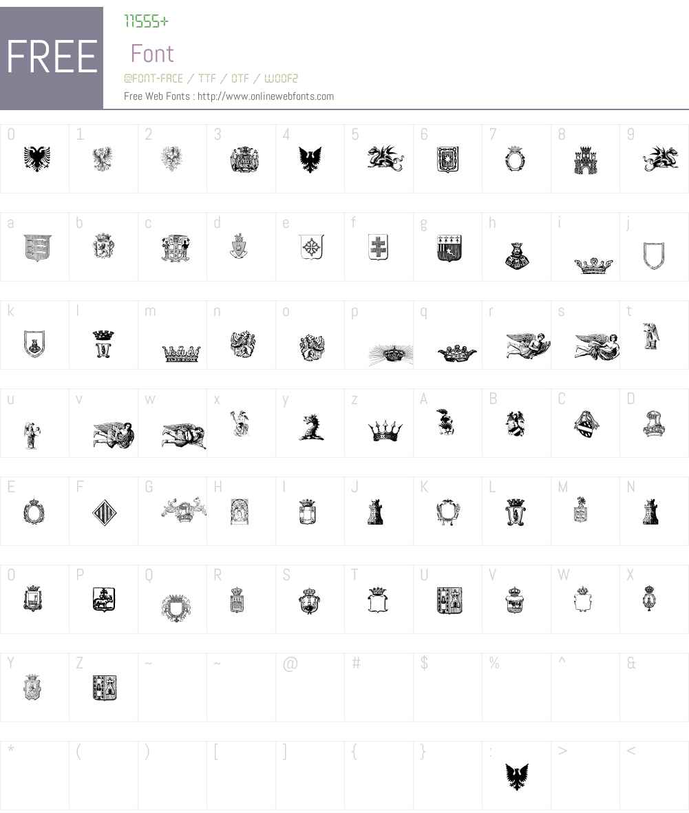 Free Medieval Font Screenshots