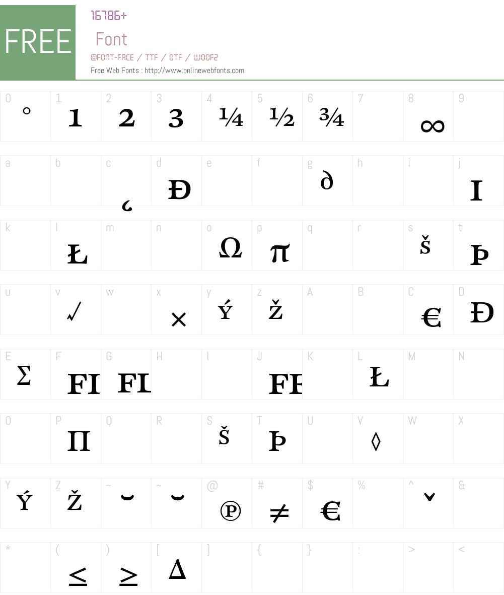 CliffordSix Font Screenshots