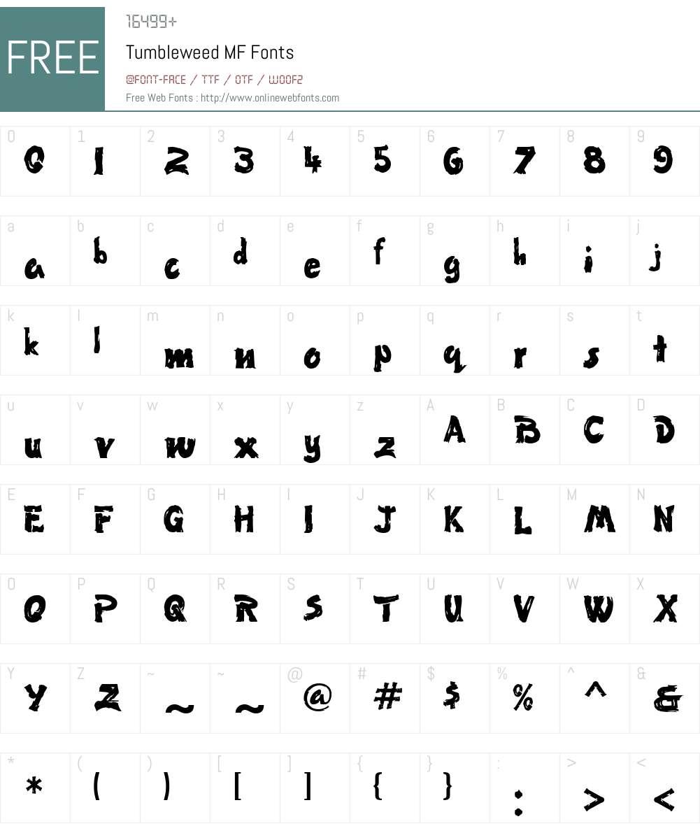 Tumbleweed MF Font Screenshots