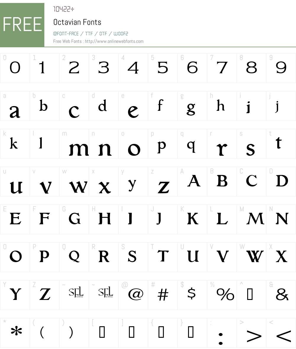 Octavian Font Screenshots