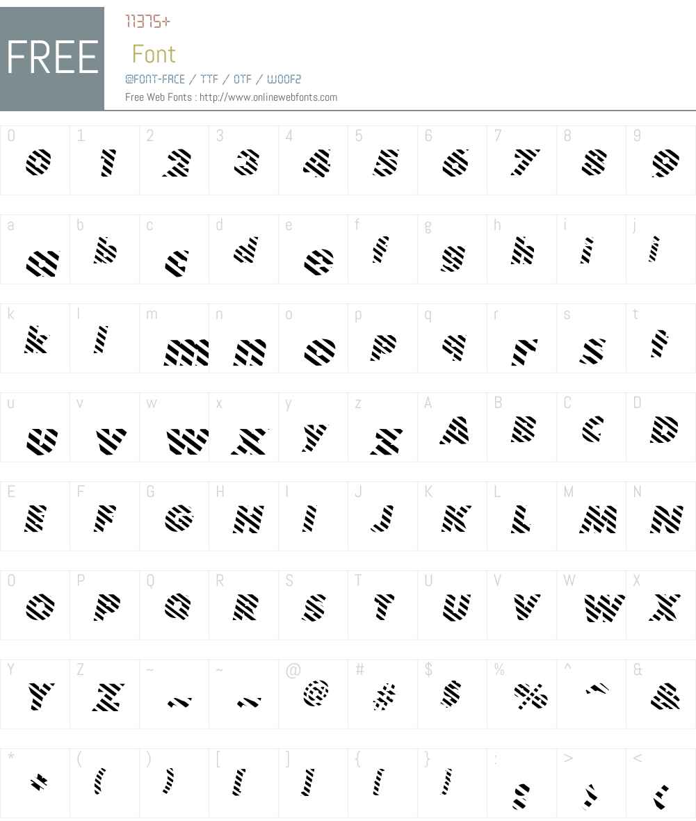 BarberPoleItalic Font Screenshots