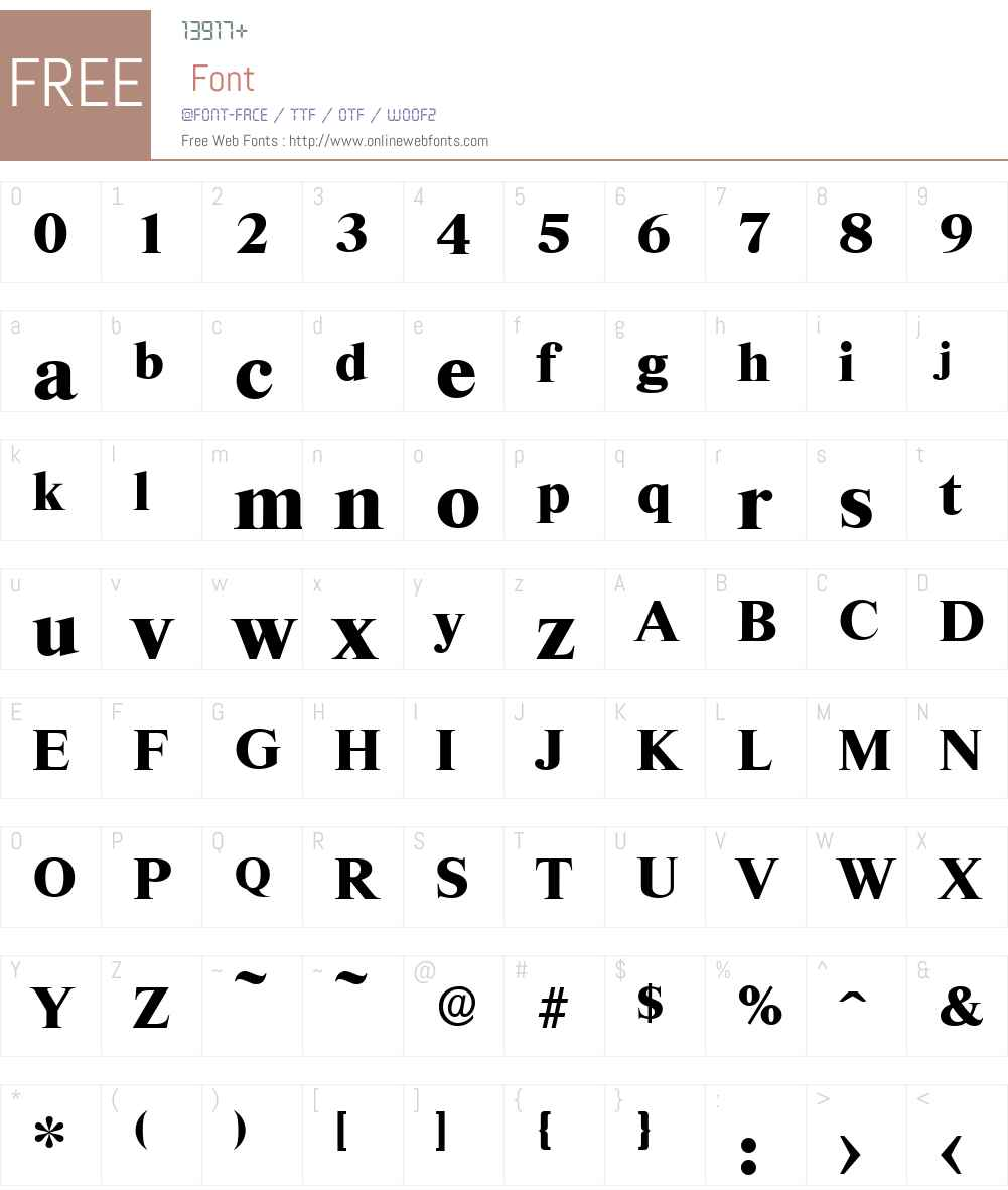 RiccioneSerial-Xbold Font Screenshots