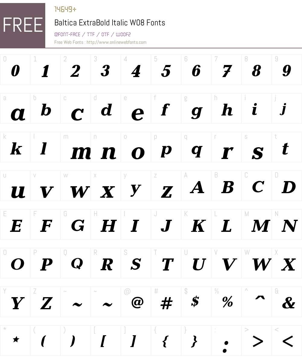 Baltica Font Screenshots