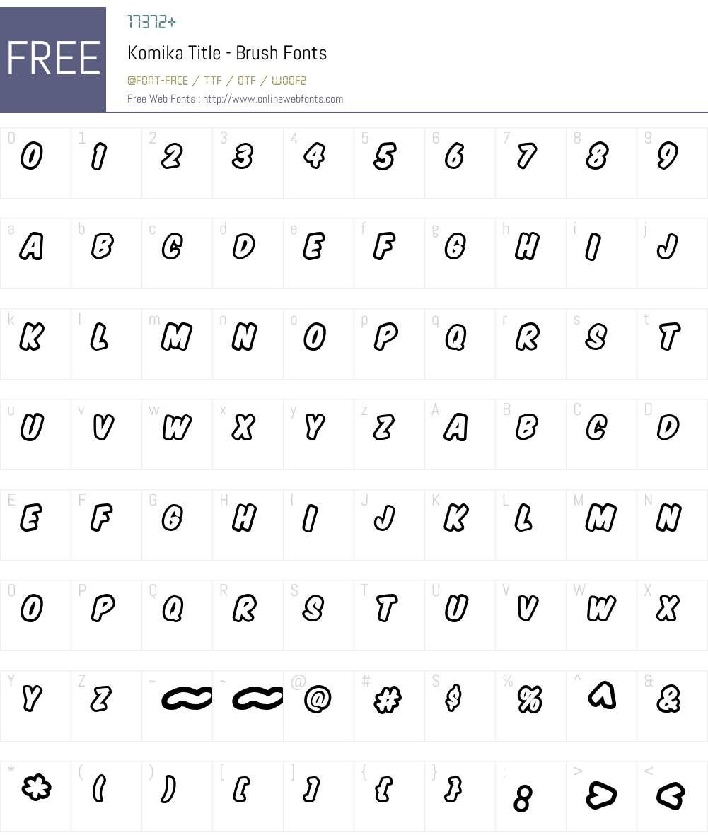 Komika Title - Brush Font Screenshots