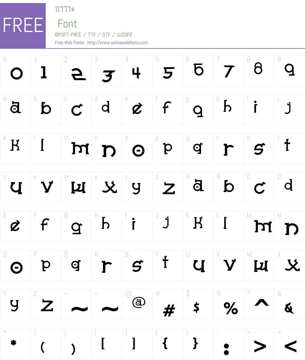 Almost Sanskrit taj Font Screenshots