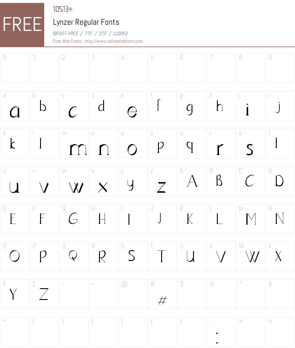 Lynzer Font Screenshots