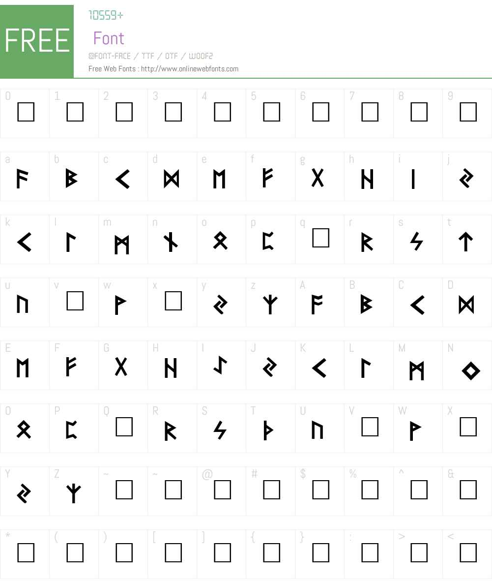 Futhark Font Screenshots