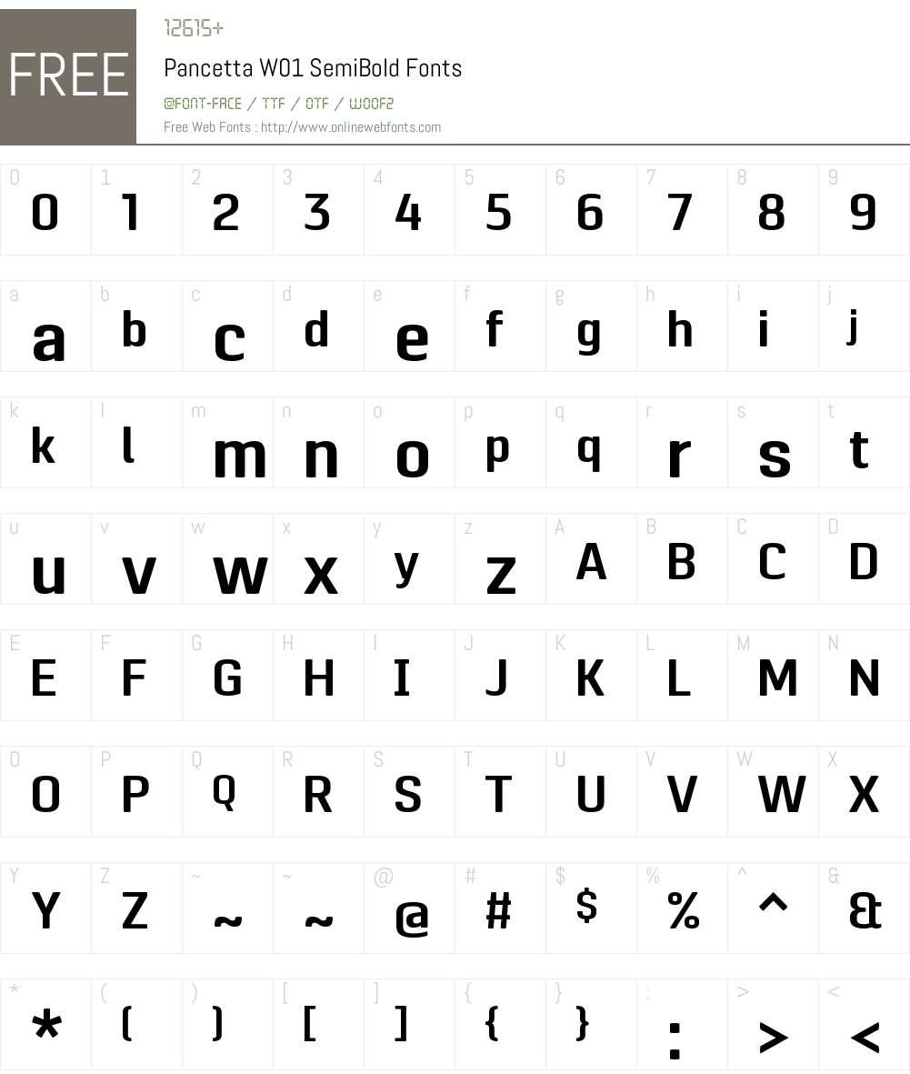 PancettaW01-SemiBold Font Screenshots