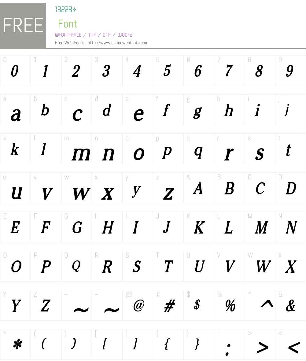 Chelsey Condensed Font Screenshots