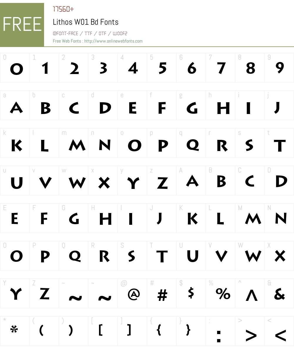 LithosW01-Bd Font Screenshots