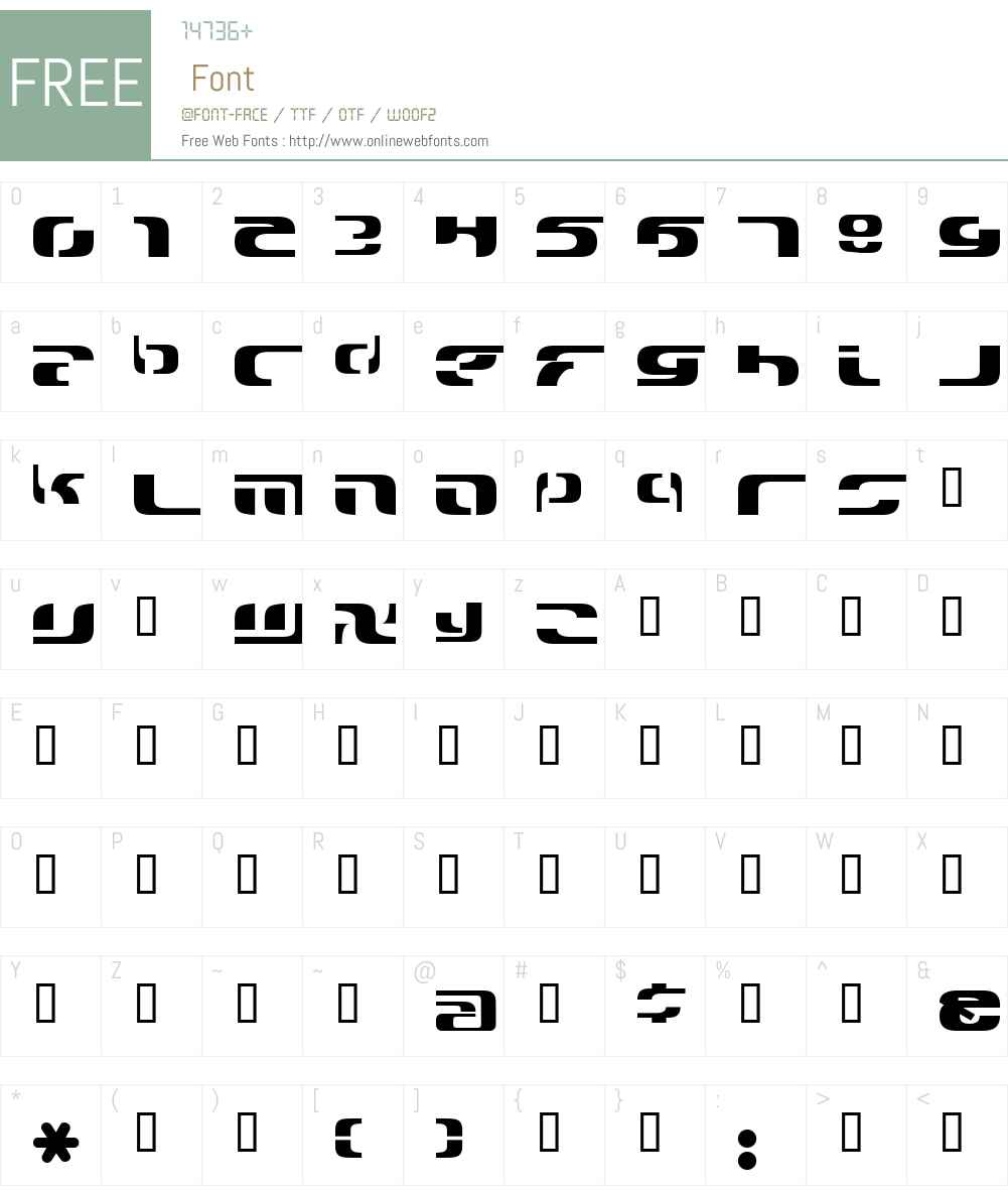 solar2000 Font Screenshots