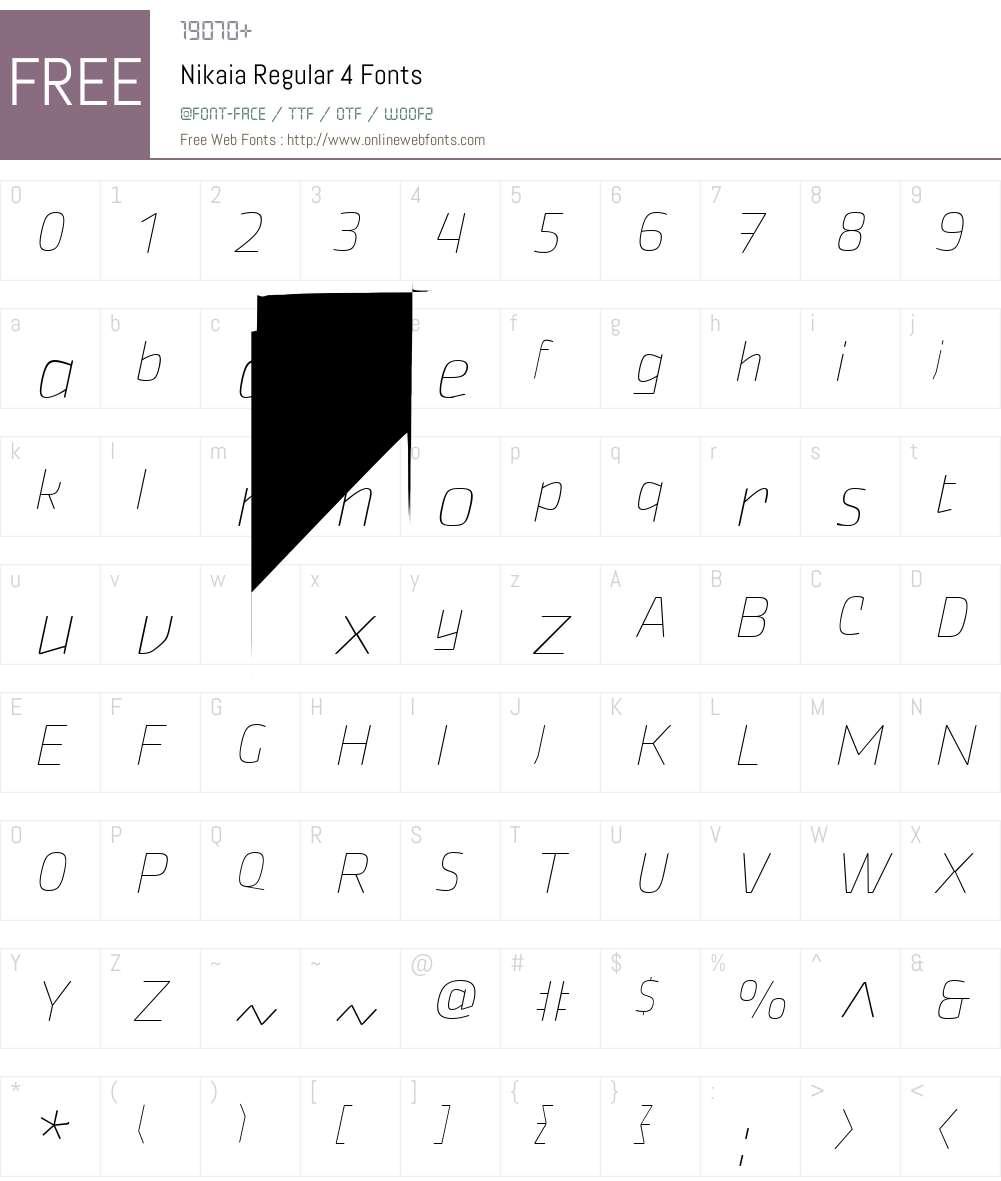 Nikaia 7 Font Screenshots