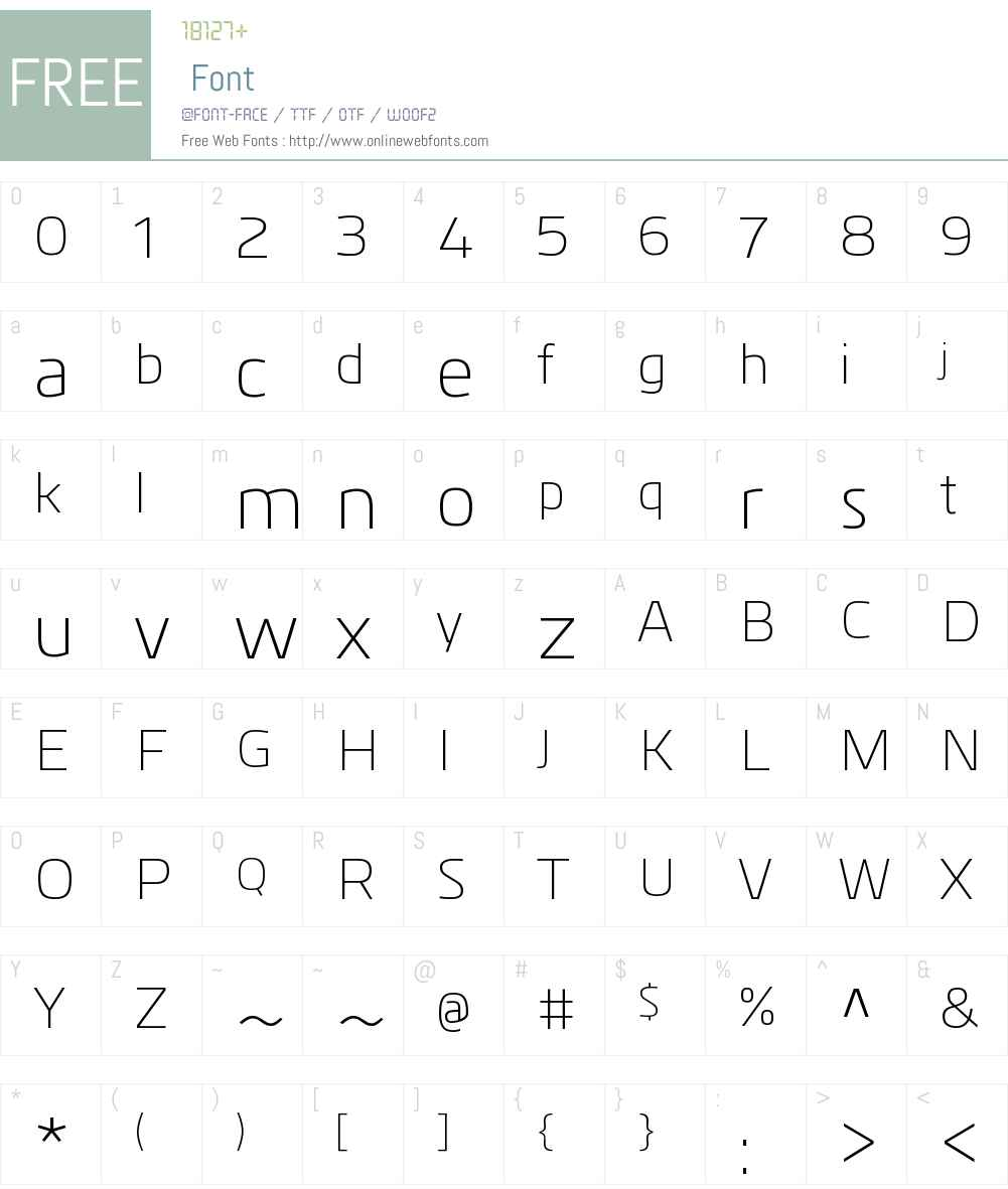 KuroW00-Light Font Screenshots