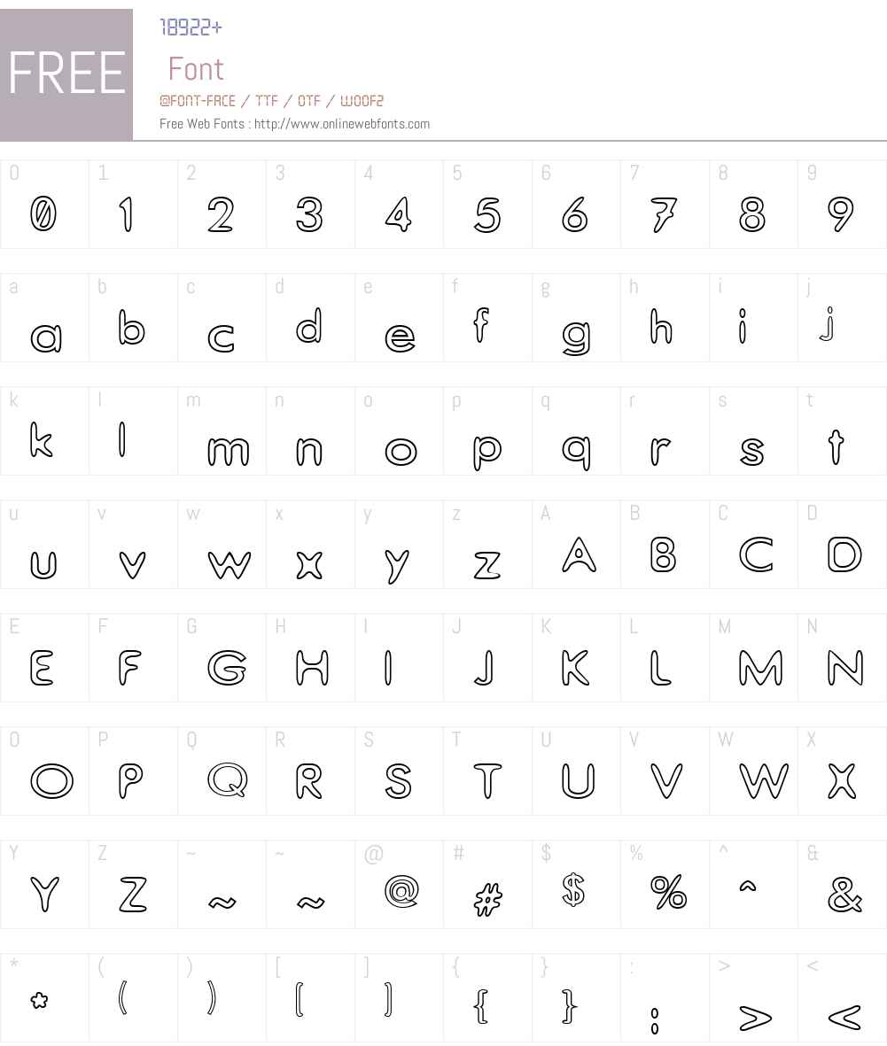Thorazone Font Screenshots