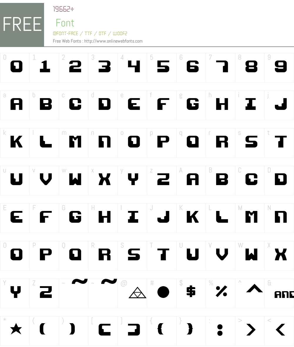 Razor 1911 Font Screenshots