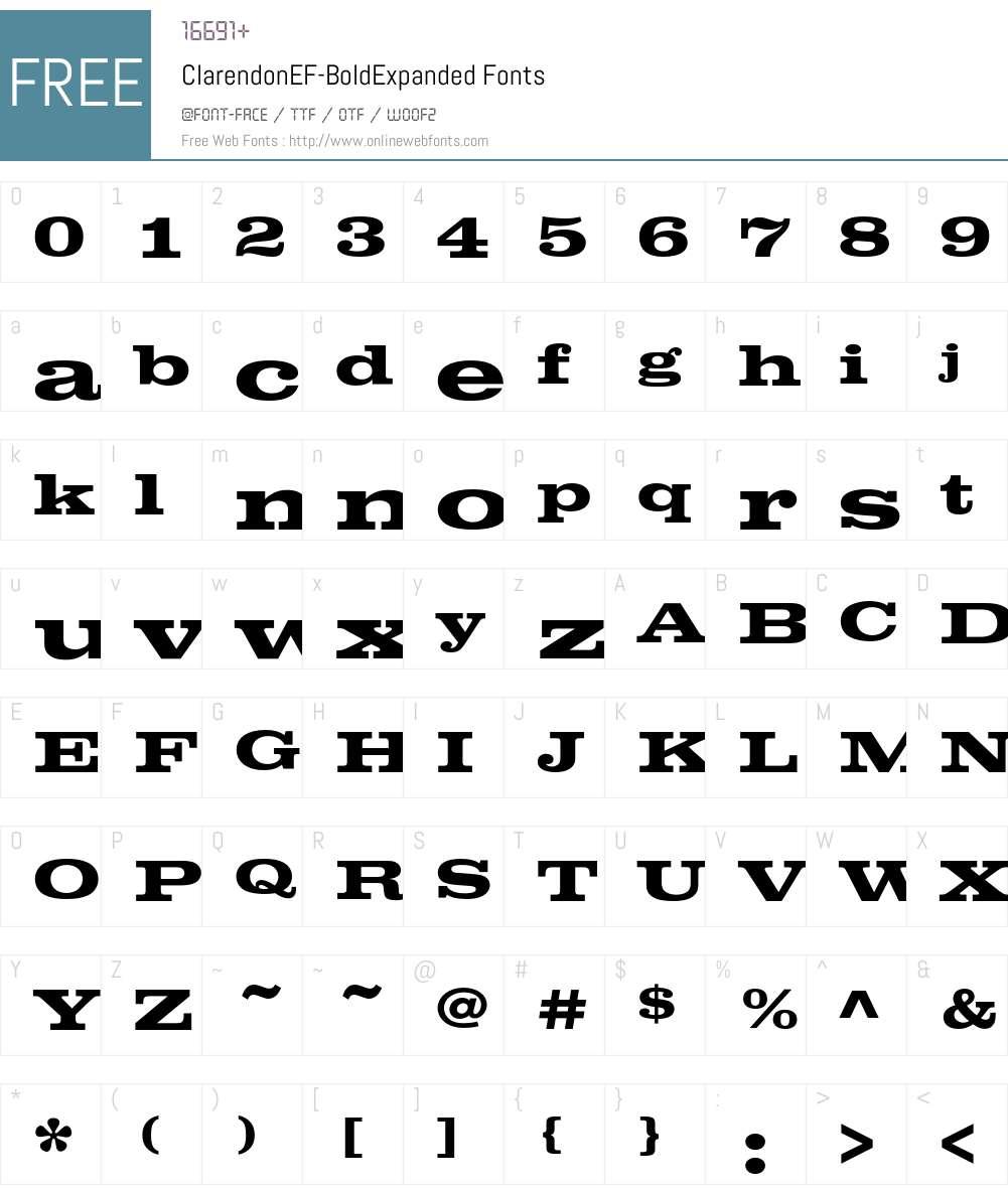 ClarendonEF Font Screenshots