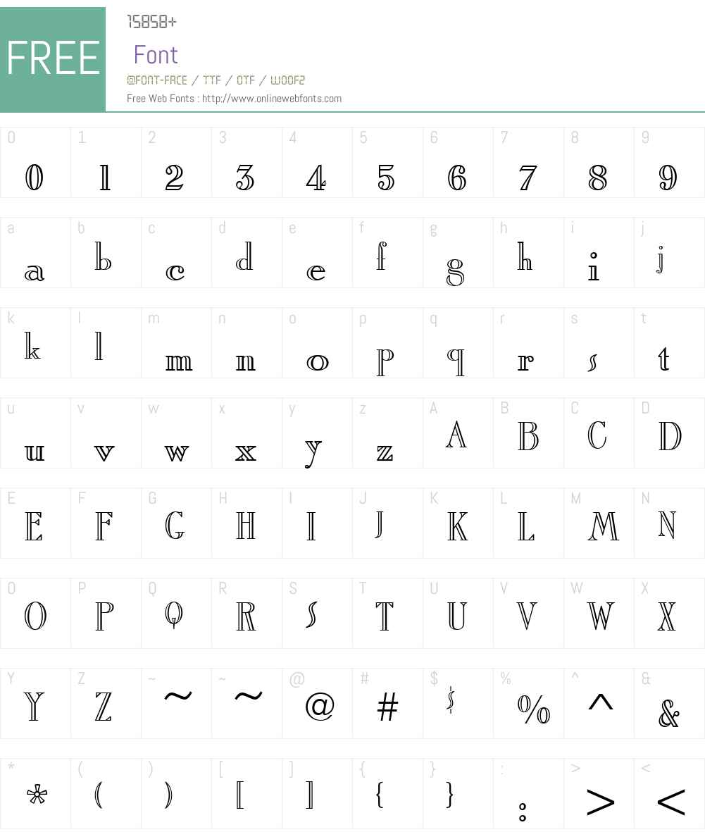 RomanStyAltT Font Screenshots