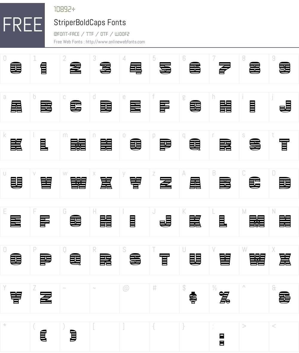 StriperBoldCaps Font Screenshots