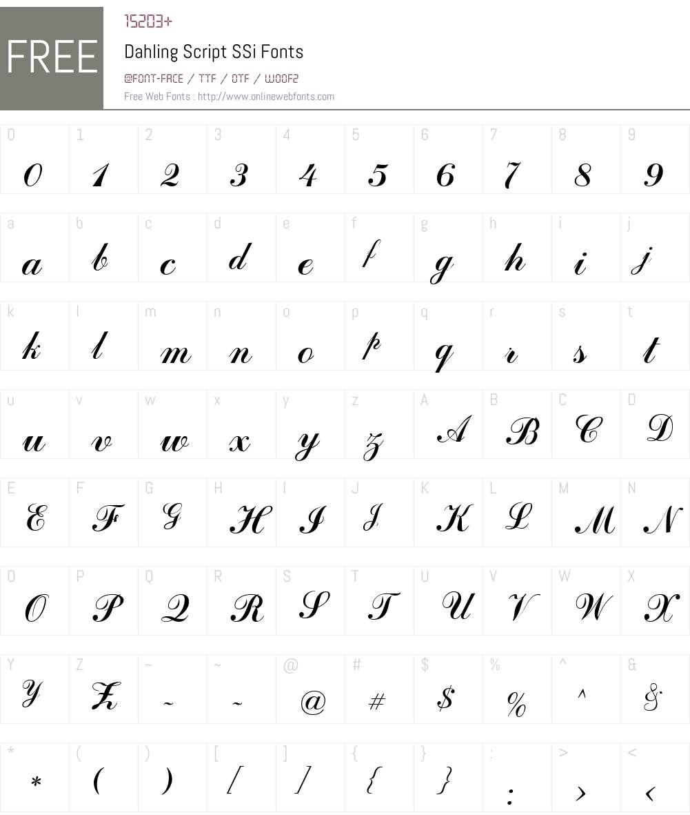 Dahling Script SSi Font Screenshots