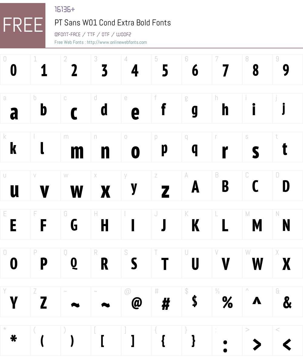 PTSansW01-CondExtraBold Font Screenshots