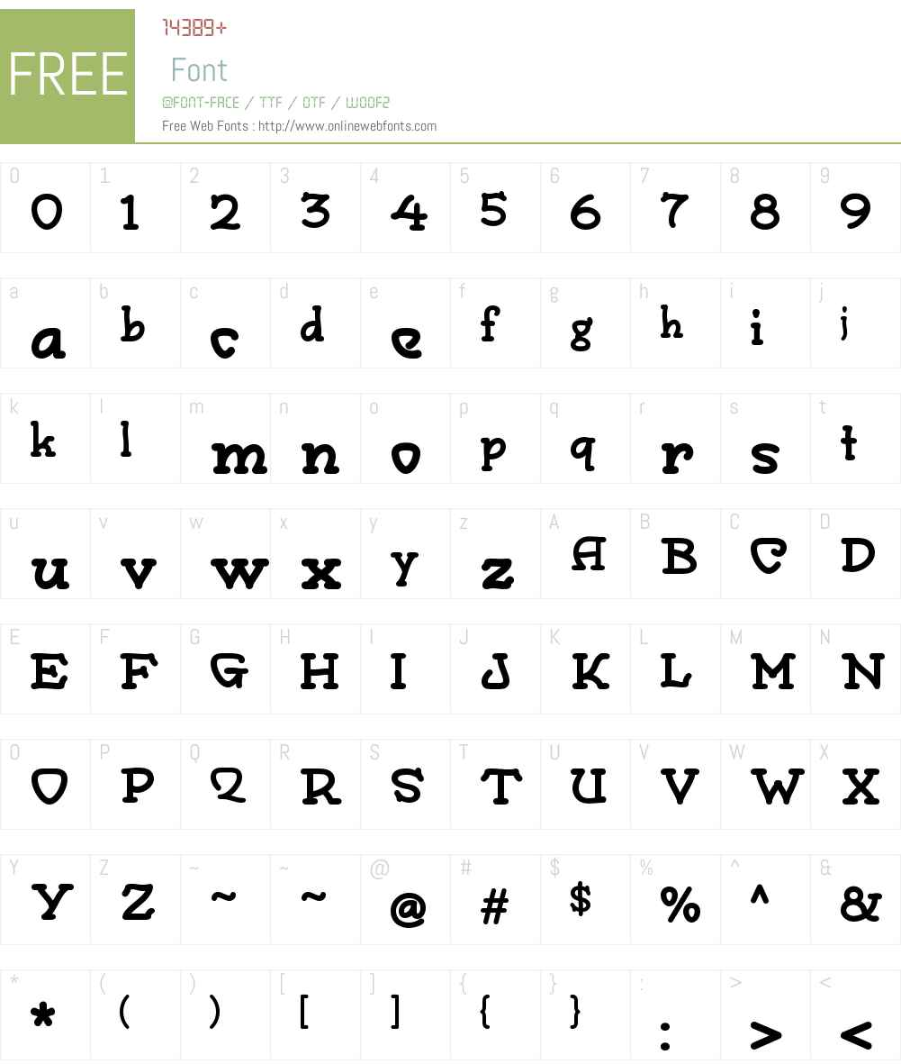 MonographW00-Regular Font Screenshots
