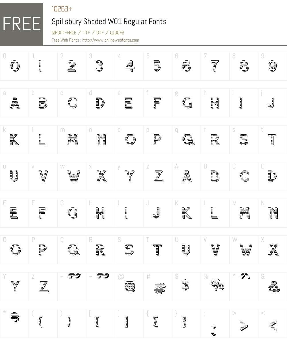 SpillsburyShadedW01-Regular Font Screenshots