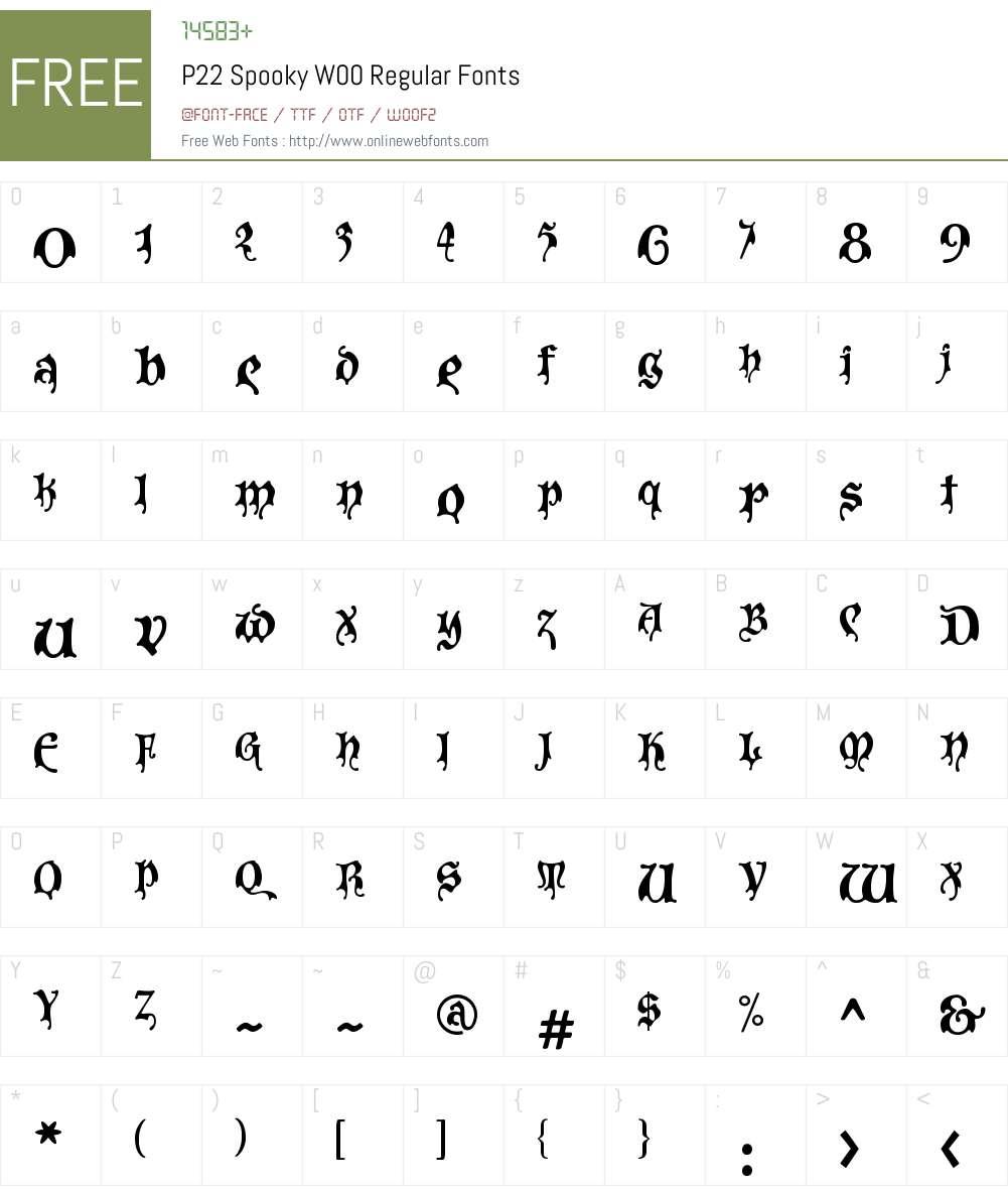 P22 Spooky Font Screenshots