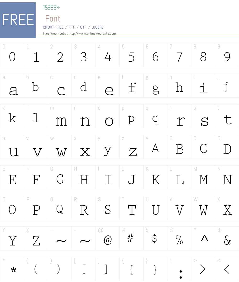 Prestige Elite Font Screenshots