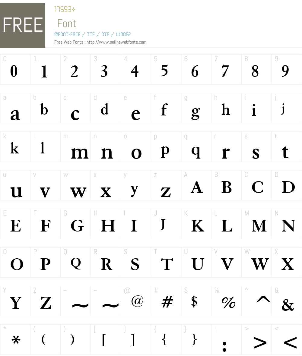 ElegantGaramondW01-Bold Font Screenshots