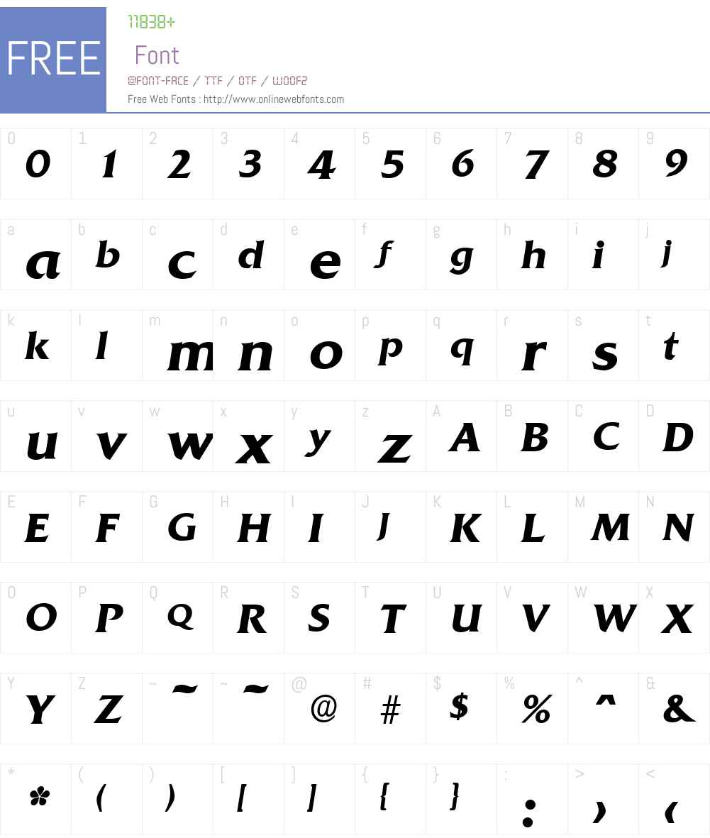 QuadratSerial Font Screenshots