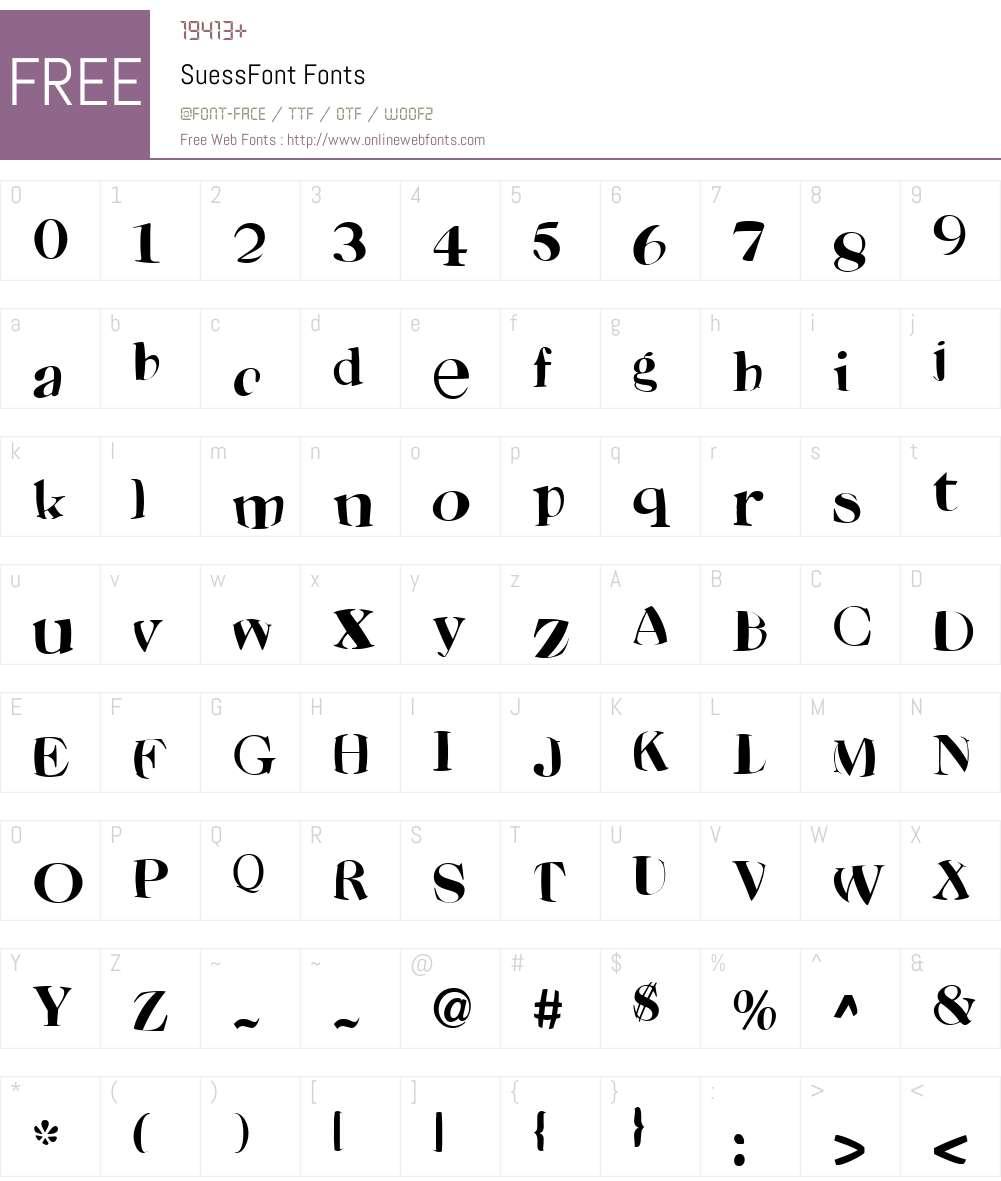 SuessFont Font Screenshots