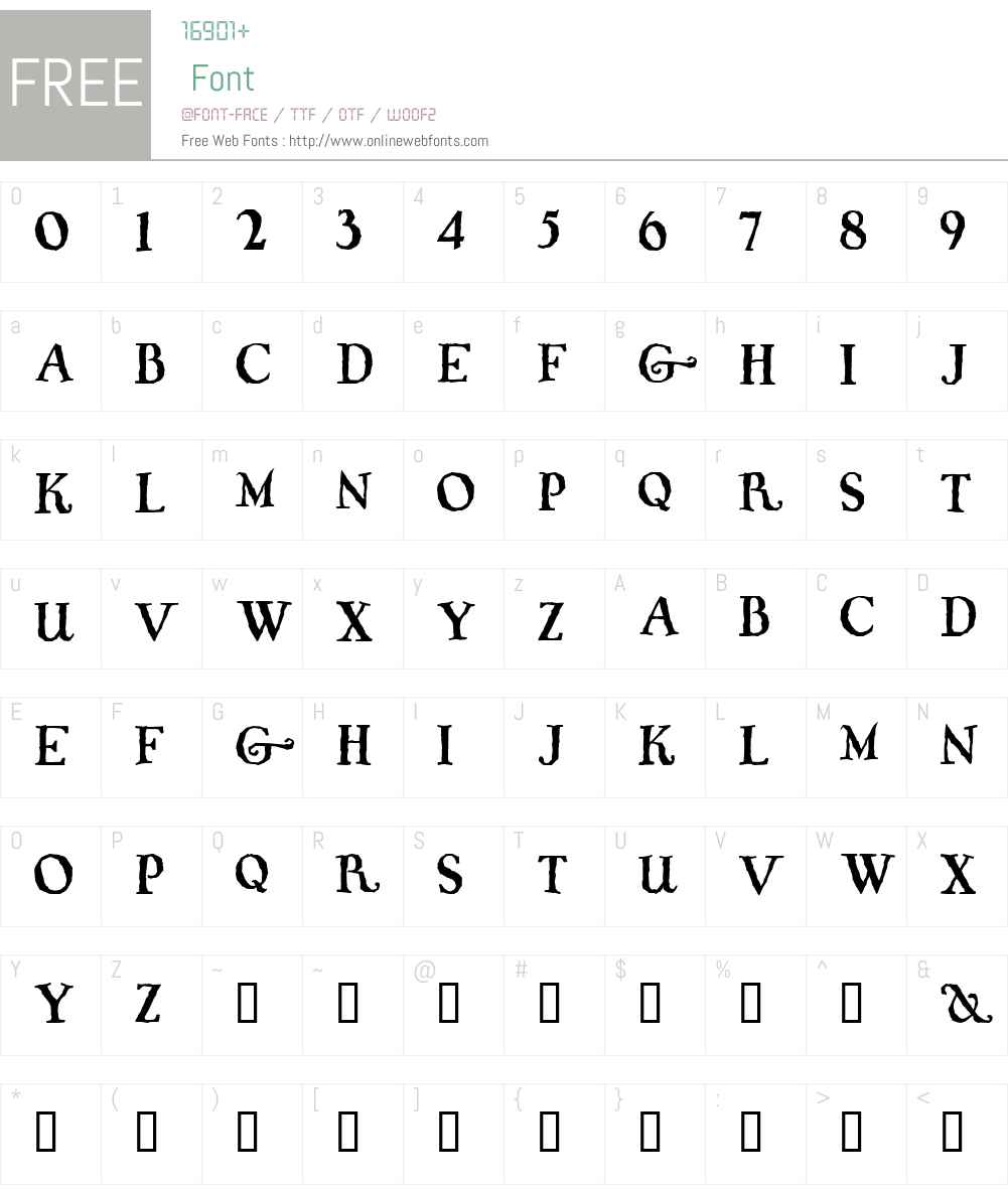 Whiffy Font Screenshots