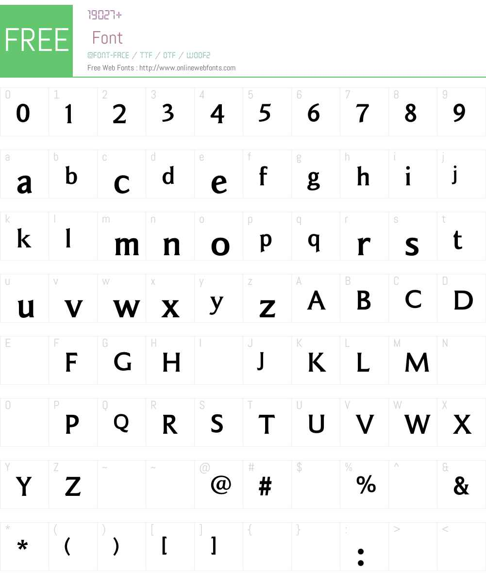 SainsburyBold Font Screenshots