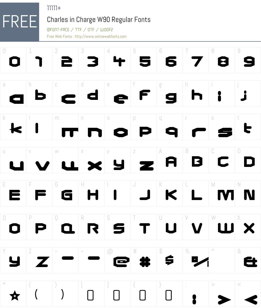 CharlesinChargeW90-Regular Font Screenshots