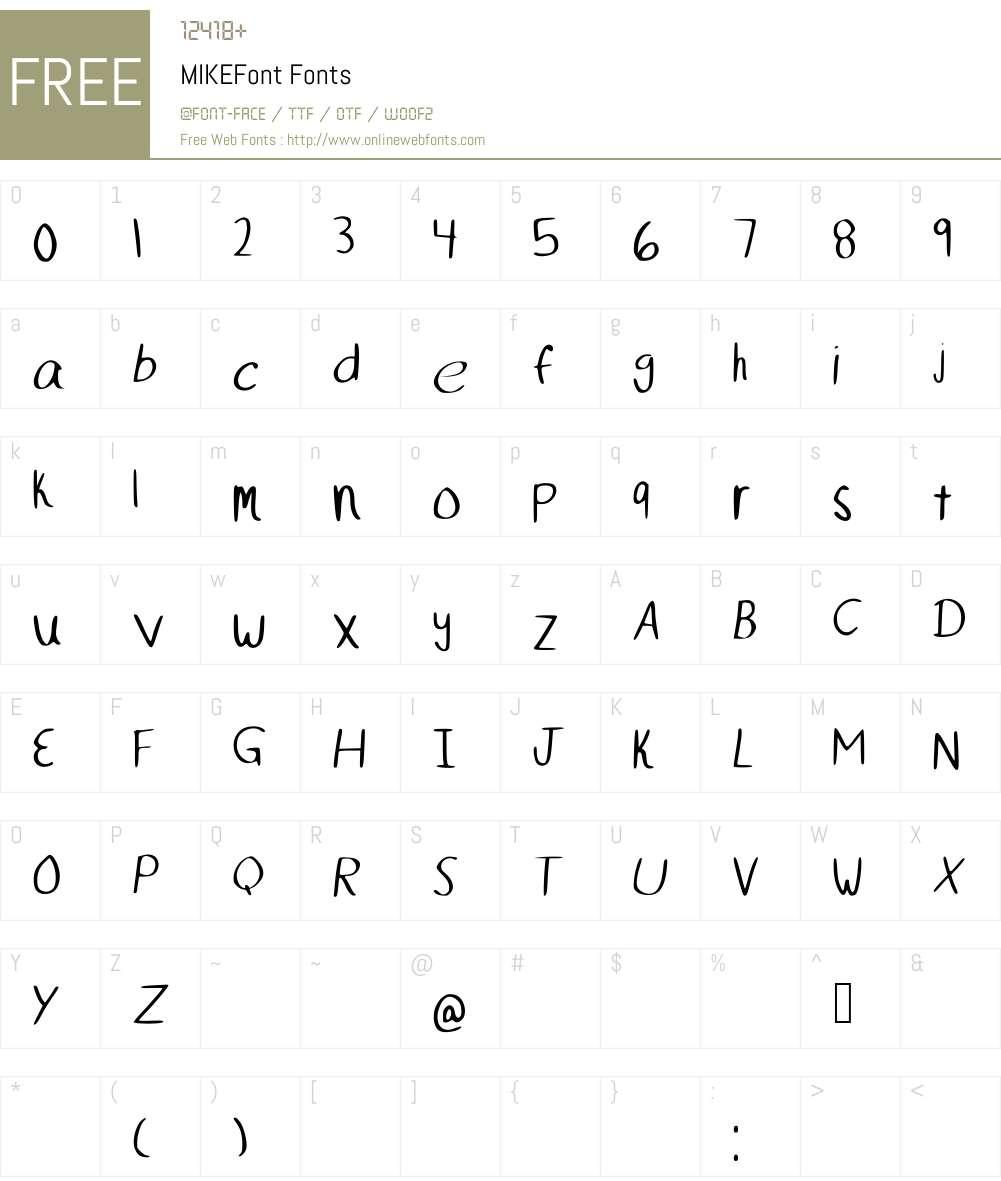 MIKEFont Font Screenshots
