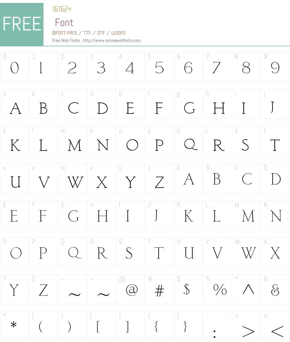 ClassicRomanW01-Light Font Screenshots