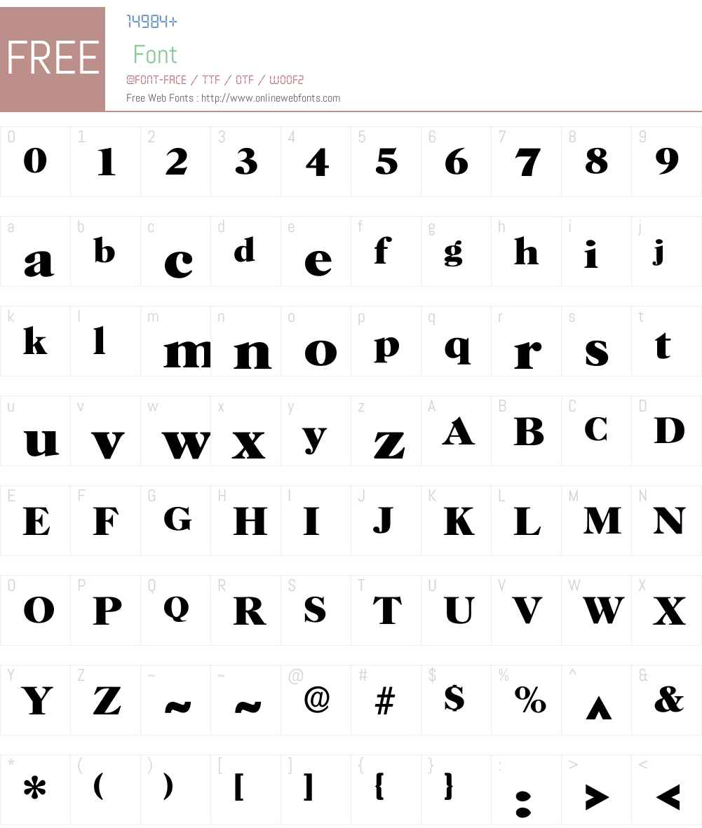 Horsha Font Screenshots