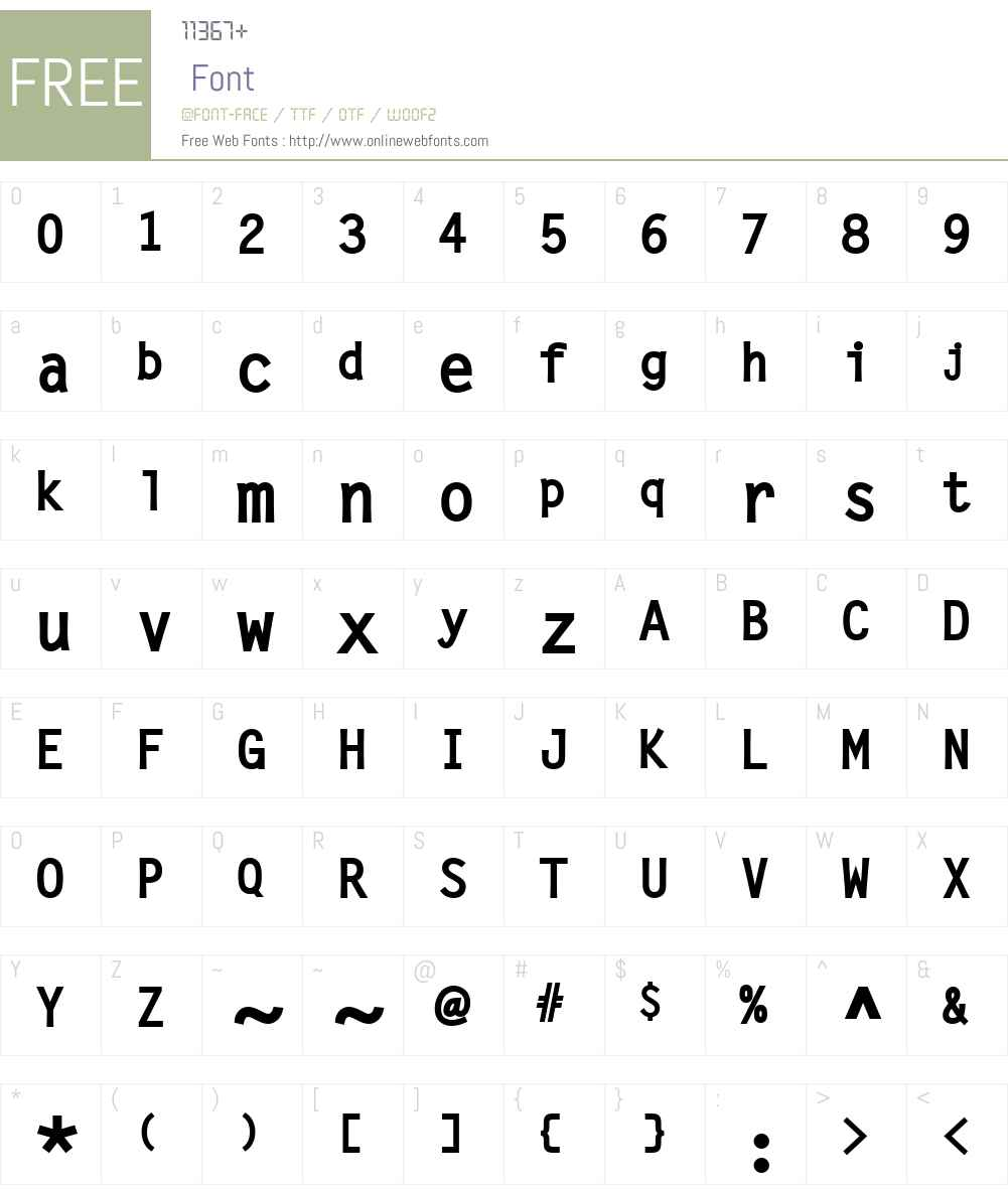 LetterGotLBol Font Screenshots