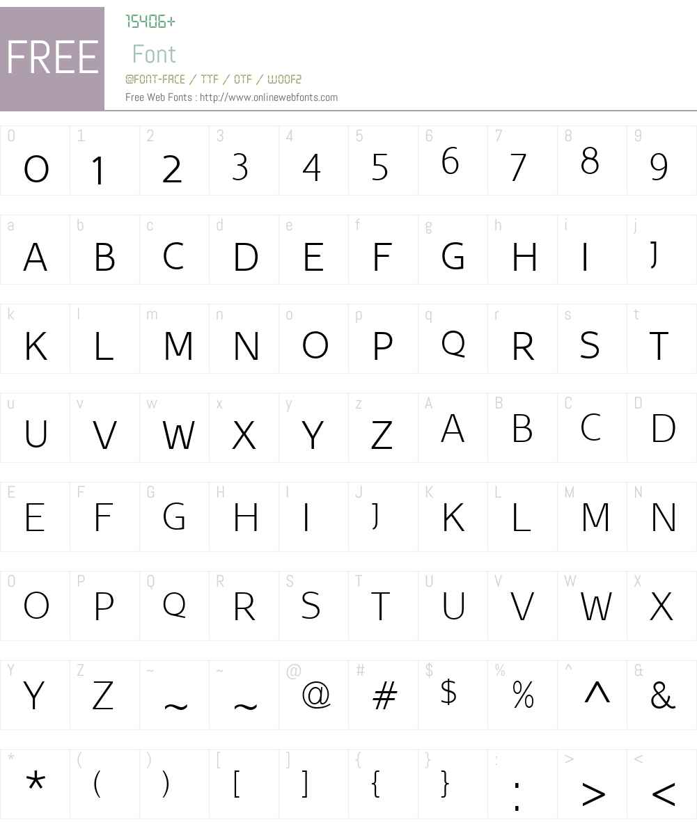 BelcoW01-UltraLightSC Font Screenshots