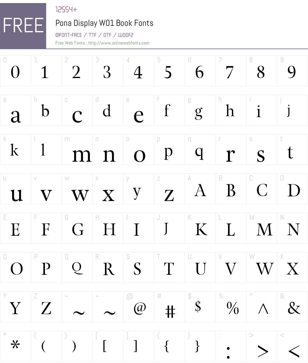 PonaDisplayW01-Book Font Screenshots