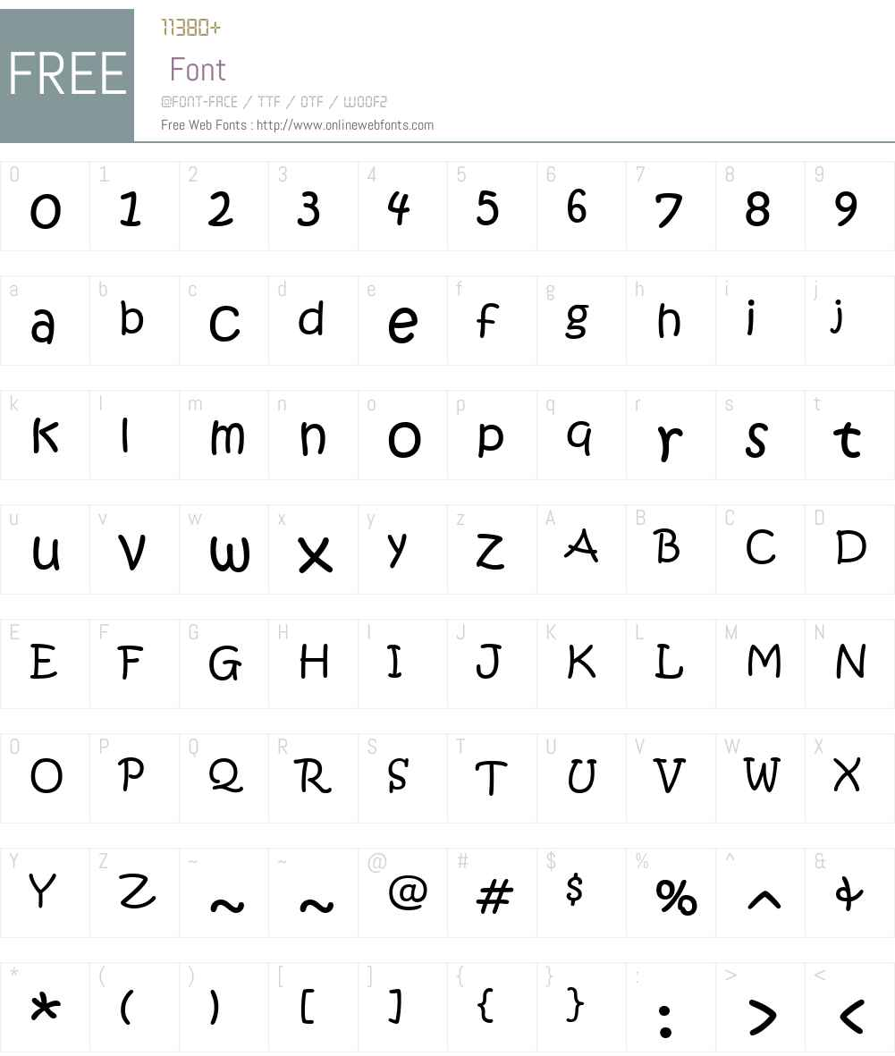 ITC Kristen Font Screenshots