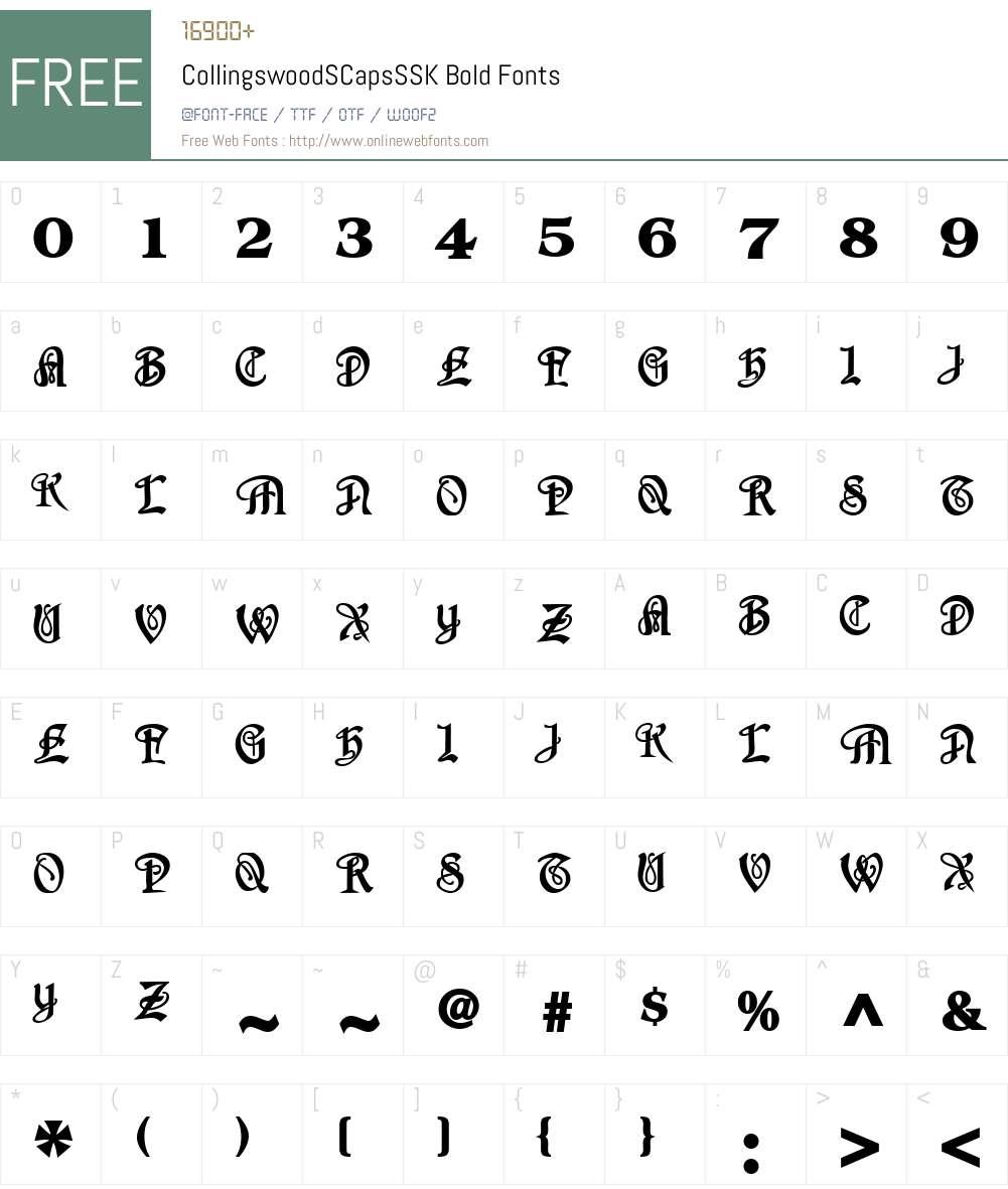 CollingswoodSCapsSSK Font Screenshots