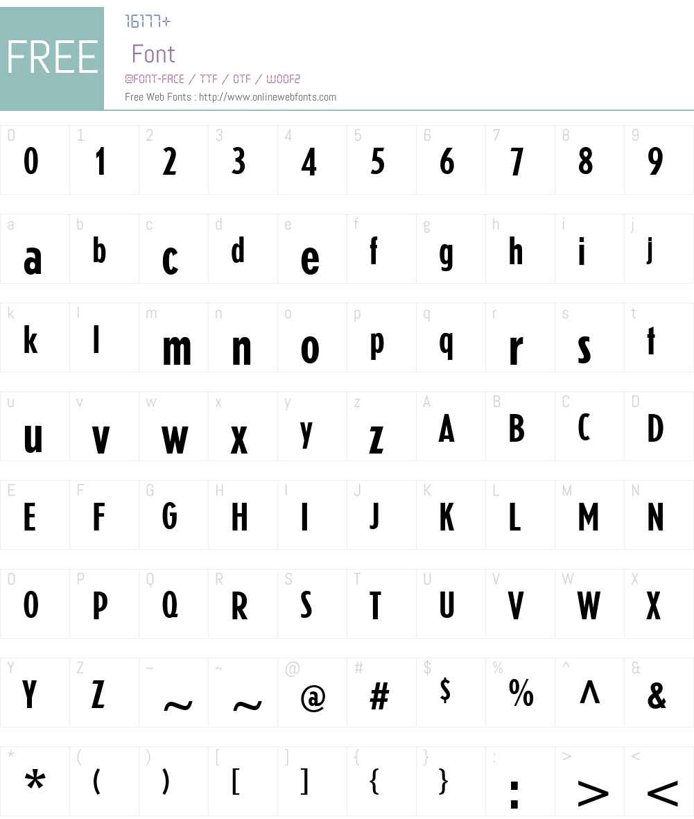 Erbar Font Screenshots