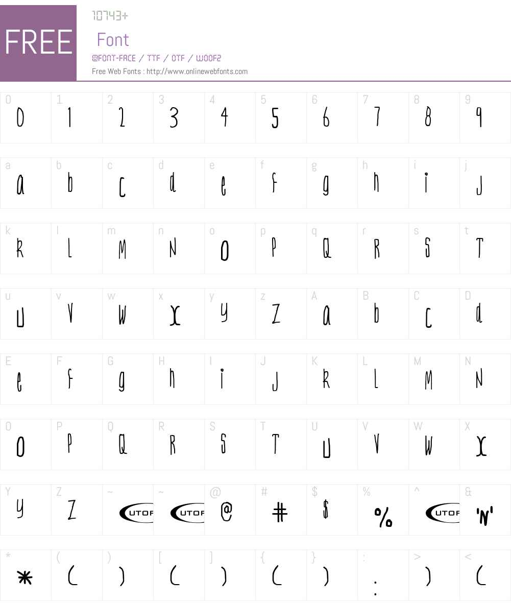 Nerve Tonic Font Screenshots