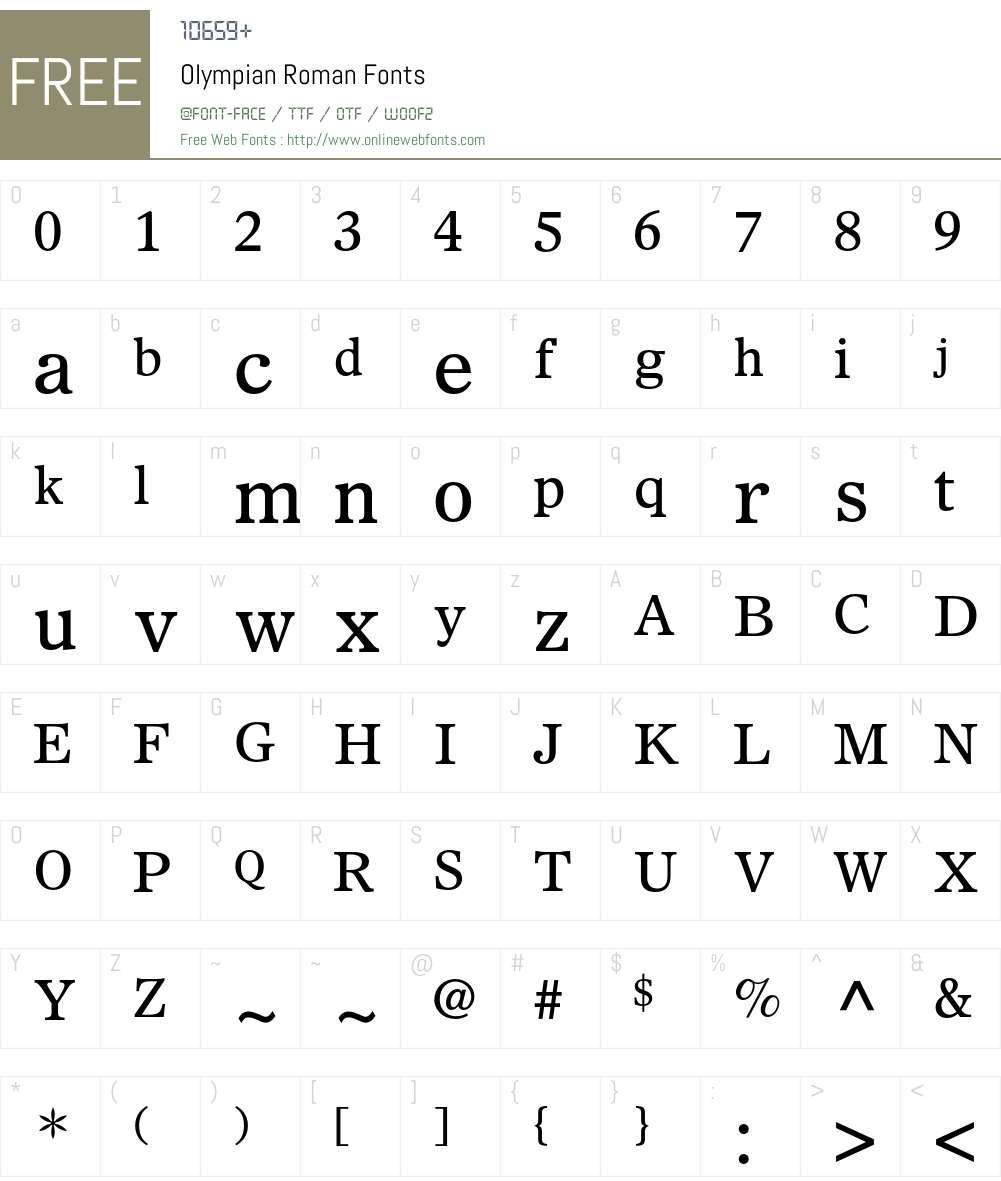Olympian Font Screenshots