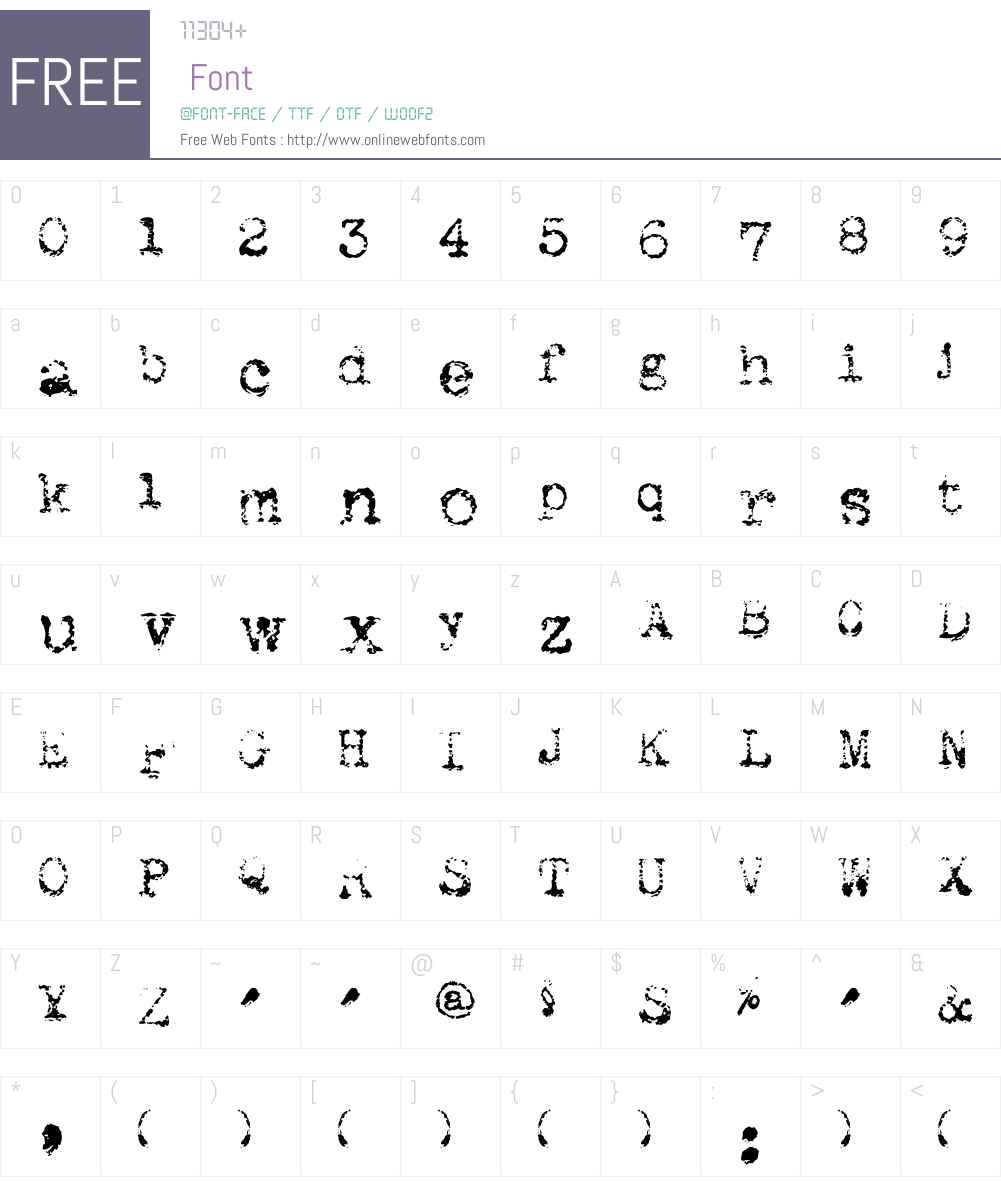 Maszyna Royal Light Font Screenshots