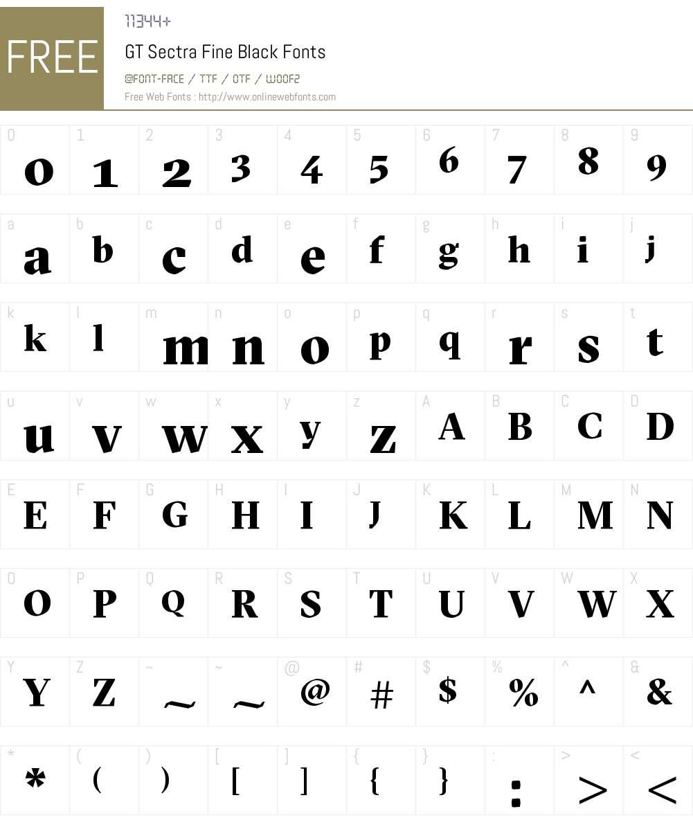 GT Sectra Fine Black Font Screenshots