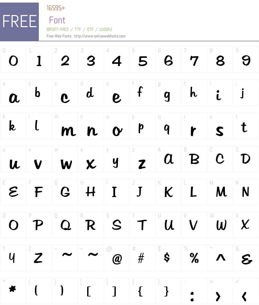 Hudson Font Screenshots