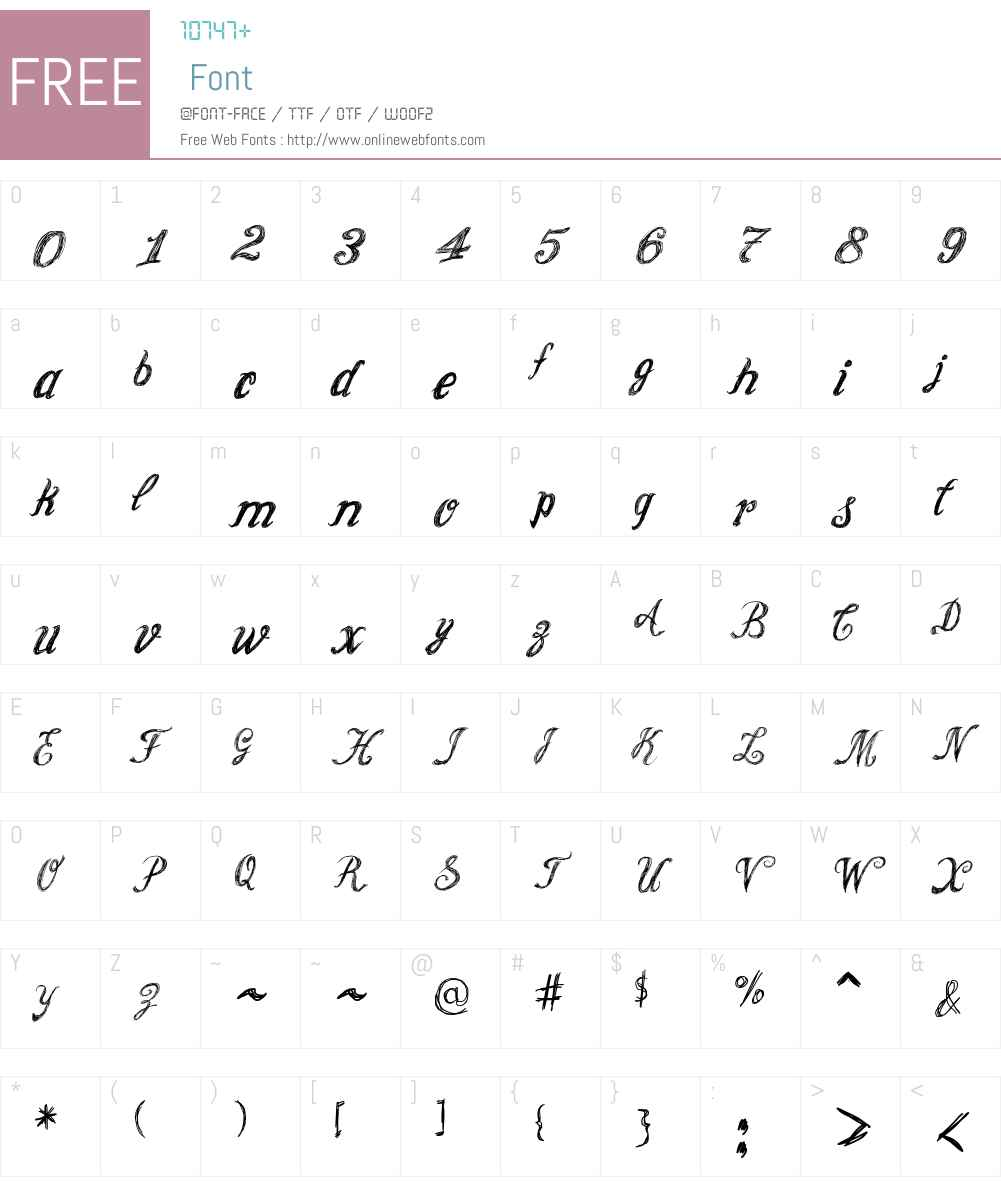 Cursive Option Font Screenshots